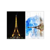 Best 11x16cm Paris Eiffel Tower Day - Night 3D Lenticular Postcard With CMYK Printing wholesale