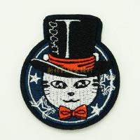 Best Heat Press Custom Embroidered Emblems For Garment Iron On Backing wholesale