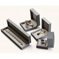 Best Earring / Pendant Jewelry Plastic Box Attractive Black Color PU Leather Covered wholesale