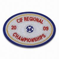Best Customized Make Chenille Patch/Badge for Sale, Available in Different Shapes wholesale