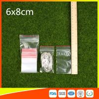 Best Polythene Clear Ziplock Bags Self Press Bags Grip Seal Bag With Red Lines wholesale