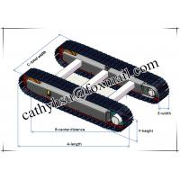 rubber track system rubber track undercarriage rubber track chassis rubber crawler undercarriag