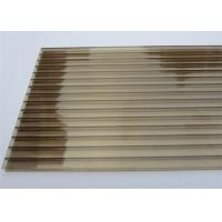 Best Color Bronze 6mm / 8mm Double Wall Polycarbonate Greenhouse Panels Multi Purpose wholesale