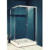 Best 77 inch 900x900 Square Shower Enclosure , Enclosed Shower Cubicles Top Double Rollers wholesale