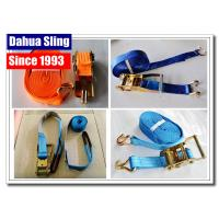 Best PE Webbing Ratchet Strap Parts Cargo Lashing Straps With Hooks 50mm wholesale