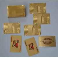 Best Both side foil Gold Playing Cards with durable plastic in inner layer wholesale
