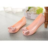 Best Plastic Resin  Summer Fashion Sandals Womens Peep Toe Flat Shoes With Bowknot wholesale