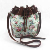 Best Colorful Ladies Canvas Travel Bag , Drawstring Crossbody Handbags With Long Strap wholesale