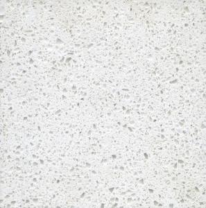 Jade Spot White Polished artificial quartz bathroom countertops / vanity tops