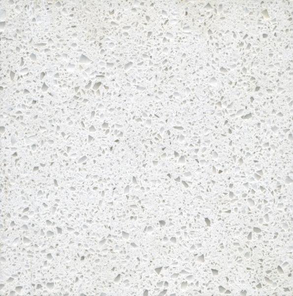 Cheap Jade Spot White Polished artificial quartz bathroom countertops / vanity tops for sale