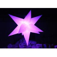 Best Different Size Hanging Inflatable Led Star 190 T Polyester Material For Party wholesale