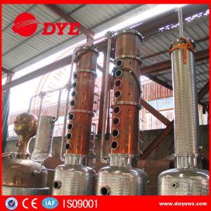 Best 3000L Steam Copper Distillation Column For Whiskey Brandy Rum Gin wholesale