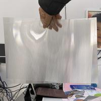 Best Super transparency lenticular sheet clear PET Lenticular 75 lpi lens sheet 3D flip lenticular lens sheet wholesale