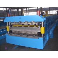 Galvanized Steel Double Deck Roll Forming Machine For Wall Panel 0.3-0.8mm