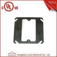 Cheap Black Metal Conduit Box Steel One Gang Square Electrical Box Cover , E349123 for sale