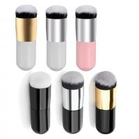 China Round Face Cosmetics Blush Brush Make Up Tool Synthetic Fifber on sale