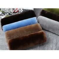 Cheap Dyed 24 Colors 100% Sheepskin Seat Belt Cover Warm Keeping With Universal Size for sale
