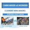 Buy cheap 2019 new model 9.8Kgs portable mini electric cement mixer robot EZ RENDA from wholesalers
