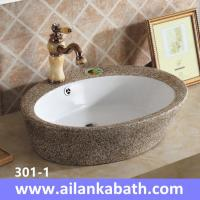 Best 2016 New  fashion brown and white bicolor basin sanitary ware bathroom colorful art basin wholesale