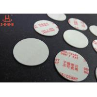 Cheap Environmental Filmed Fiber Small Desiccant Packs 1.0mm Thickness , Circle Shaped for sale