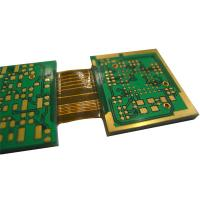 Buy cheap High Rigid Flex PCB / Multilayer Printed Board PET Material 6-Layers Lead Free HASL Surface Finishing Green Solder Mask from wholesalers