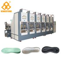 Best One Color EVA Shock- absorbing Sport Shoe Sole Making Machine With 100-120 Pairs / Hour wholesale