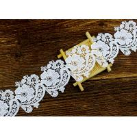 Best Floral Guipure Water Soluble Lace Trims With Heavy Embroidery For Dresses Ribbon wholesale