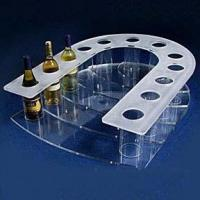 China Hot acrylic wine stopper holder stand and liquor bottle rack display for wine and drink on sale