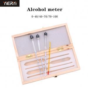 China Measuring Alcohol Concentration Wine Meter , Alcohol Meter Whisky Vodka Bar Set Tool on sale