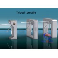 China Access Control Tripod Turnstile Gate , pedestrian security gates Semi - automatic on sale