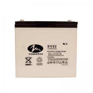 Best AT 12v 55ah EV Lead Acid Batteries EV22 Electro Tricycle Sulfuric Acid Battery wholesale