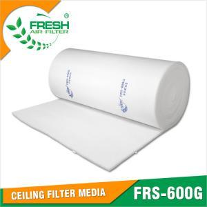 Buy cheap EU5 high dust holding capacity medium efficiency spray booth air filter media from wholesalers