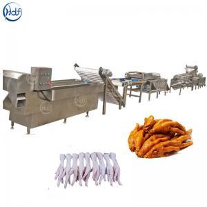 Best High Efficiency Poultry Processing Machine , Chicken Feet Skin Peeling Machine wholesale