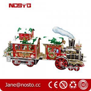 Best Papercraft Train KIT Puzzle for Kids 3D Constructor for Children,3D Christmas train wholesale