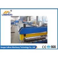 Best Blue Roofing Corrugated Sheet Roll Forming Machine , Corrugated Roller Machine wholesale