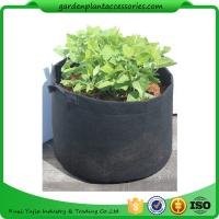 Best Charcoal Durable Fabric Grow Pots , Perfect Heavy Harvest Planter Raised Bed wholesale