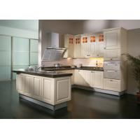 Blum Hinges Solid Wood Kitchen Furniture , 18mm Plywood Carcass Apartment Kitchen Cabinets