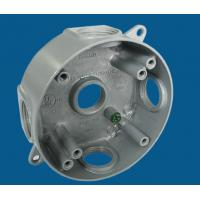 China 4 Round Waterproof Electrical Box With 5 Outlet Holes Aluminum Die Cast MATERIAL on sale
