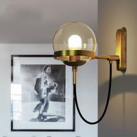 Cheap Industrial Vintage Glass Hotel Bedroom Wall Bedside Lamp for sale