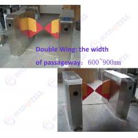 Best 90CM width Sliding Card Double Wing access control barriers with automatic sensor wholesale