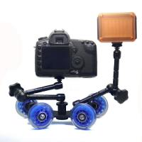 Best Table Top Compact Dolly Kit Skater Wheel Truck for DSLR Camera Video Monitor   wholesale