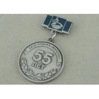 Quality Zinc Alloy 3D Antique Silver Custom Awards Medals With Imitation Hard Enamel wholesale
