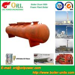 Cheap SA516GR70 Steel steam boiler mud drum ASME for sale