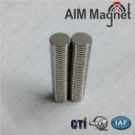 Best N35/Nickel plating D6mmX5mm permanent type ndfeb magnet wholesale