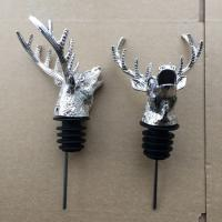 Best Popular Stag Head Pourer with Rubber Stopper and Zin Alloy Material wholesale