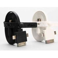 Best IPhone 5S / 4 3 In 1 USB Charging Cable / SAMSUNG Micro Powered Data Cable White wholesale