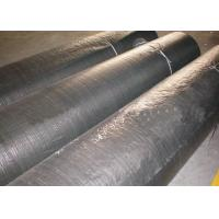 Best PP Flat Yarn Woven Geotextile Fabric Black Color For Dam Reinforcement wholesale