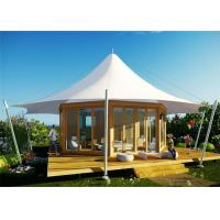 Best PTFE Luxury Outdoor Tents Prefab Transparent Hollow Soundproof Glass Wall wholesale
