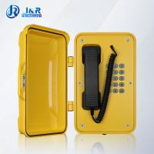 Best VOIP/SIP Hazardous Area Telephones , Heavy Duty Weatherproof Telephone with black curly cord wholesale