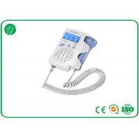 Best White Pocket Fetal Doppler Machine With Crystal Clear Sound LCD Backlight wholesale